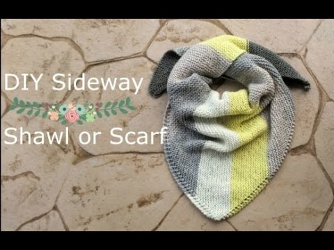 How To Knit Sideways Scarf Triangle Scarf