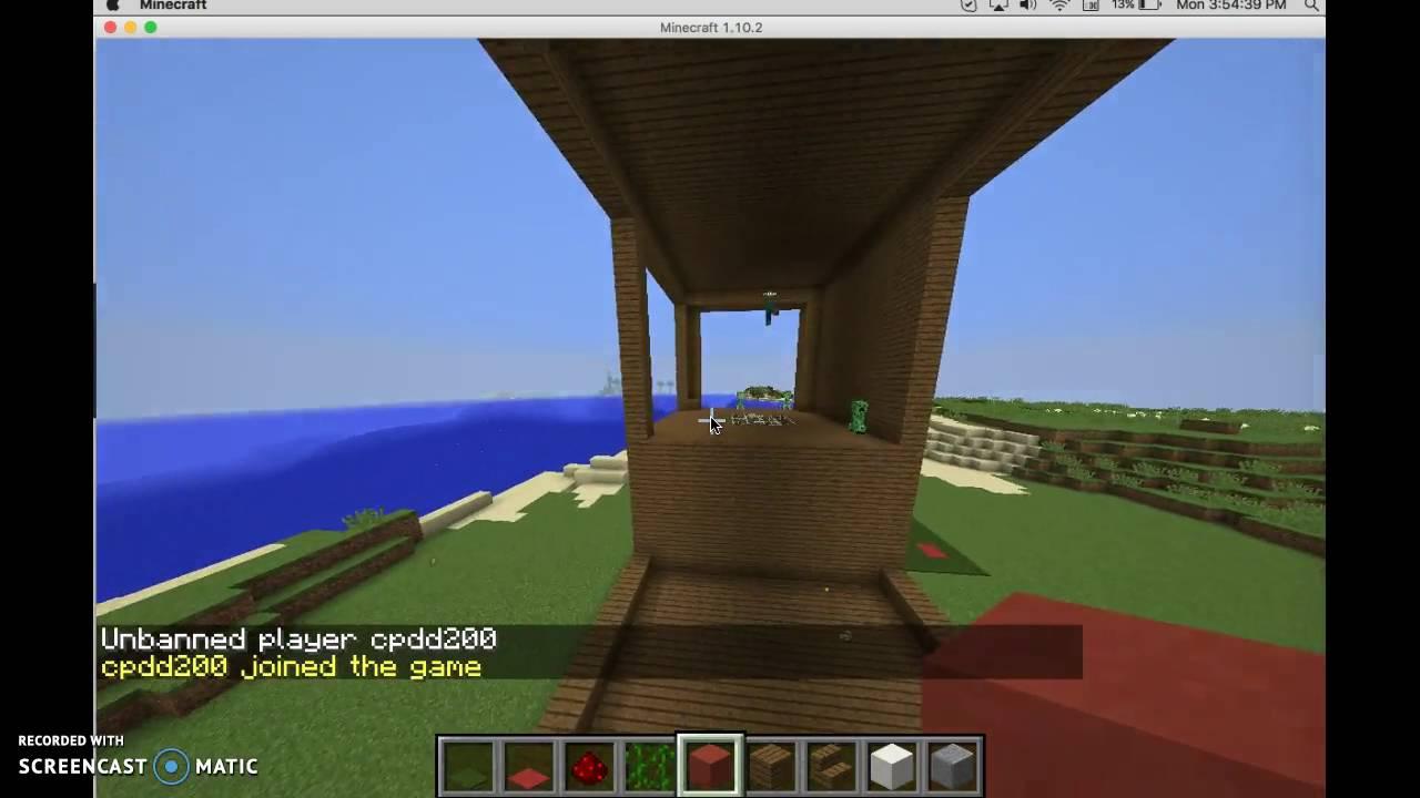 How To BanUnban Players In Minecraft YouTube - Minecraft bukkit spieler entbannen