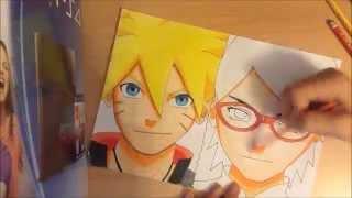 【Boruto Uzumaki and Sarada Uchiha】drawing (Naruto Gaiden)