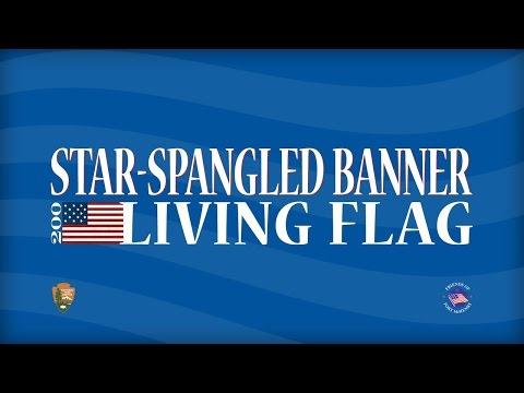 Star Spangled Banner Living Flag - September 9th 2014