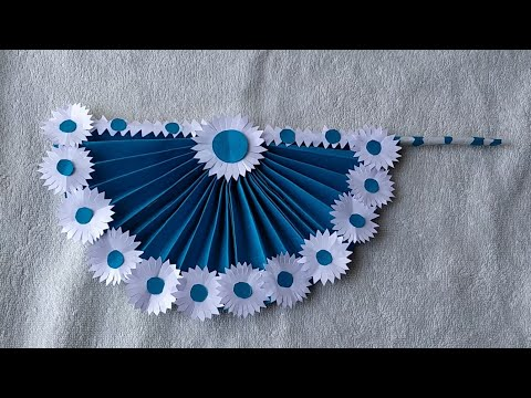#DIY paper crafts || How to make DIY hand fan out of color paper|#Easy paper crafts by Azwork Forum
