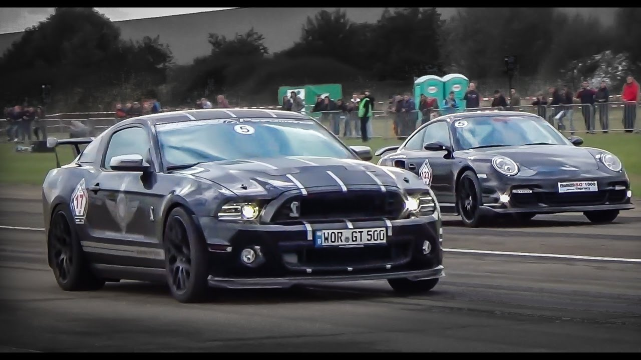 Ford mustang shelby gt500 vs 1500hp nissan gtr vs 911 vs m3 youtube