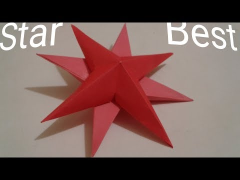 How to make simple & easy paper star | DIY Paper Craft Ideas, Videos & Tutorials. SCA Craft