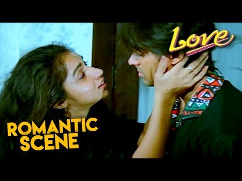 Salman Khan Meets Revathi | Love Hindi Movie | Romantic Scene | HD1080p