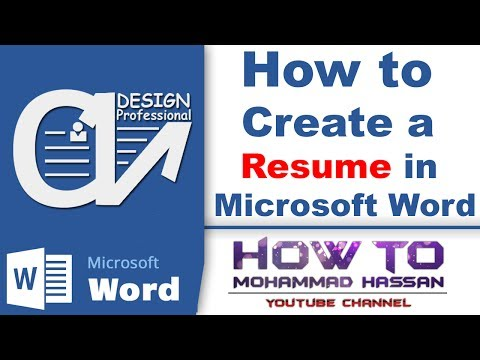 How To Create A Resume In Microsoft Word, New Latest CV Formats Download