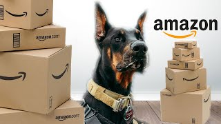 AMAZON DOG HAUL ft. MY 80 POUND DOBERMAN