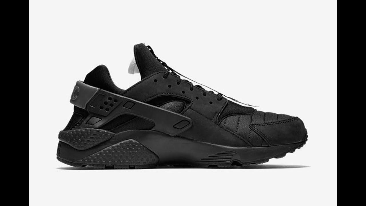 630437d0ffa3 Nike s New  NYC  Huarache Wears All Black and a Slick Zip - YouTube
