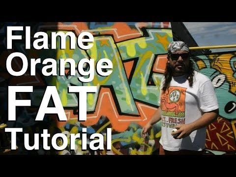 ArtPrimo.com: Flame Orange Acrylic Spray Paint Tutorial