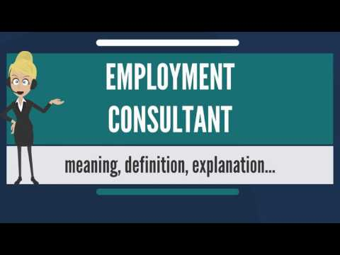 What is EMPLOYMENT CONSULTANT? What doe EMPLOYMENT CONSULTAN