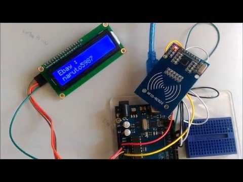 Passbook Project Arduino Uno Rfid Rc522 I2c Lcd Screen