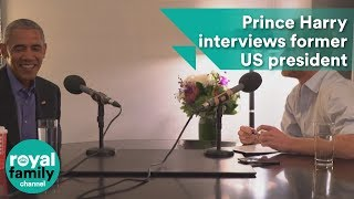When Harry met Barack: Prince interviews former US president by : The Royal Family Channel