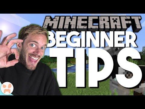 10 MINECRAFT TIPS FOR PEWDIEPIE (10 Beginner Tips)