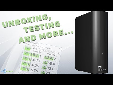 Western Digital Elements 4TB 📂 unboxing, info, review and test of external hard disk drive