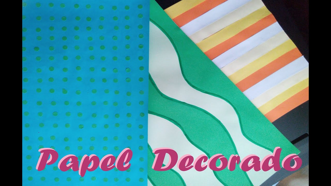 Papel scrapbook scrapbook facil como decorar hojas scrapbook youtube - Papel autoadhesivo para decorar ...