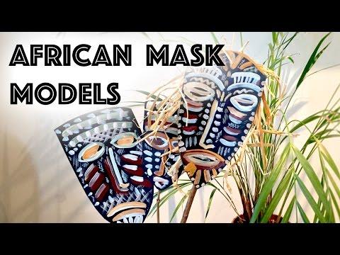 African Mask Models