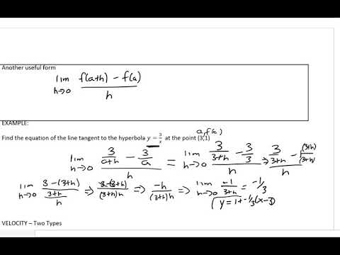 Tangents, Slopes, and derivatives day 1