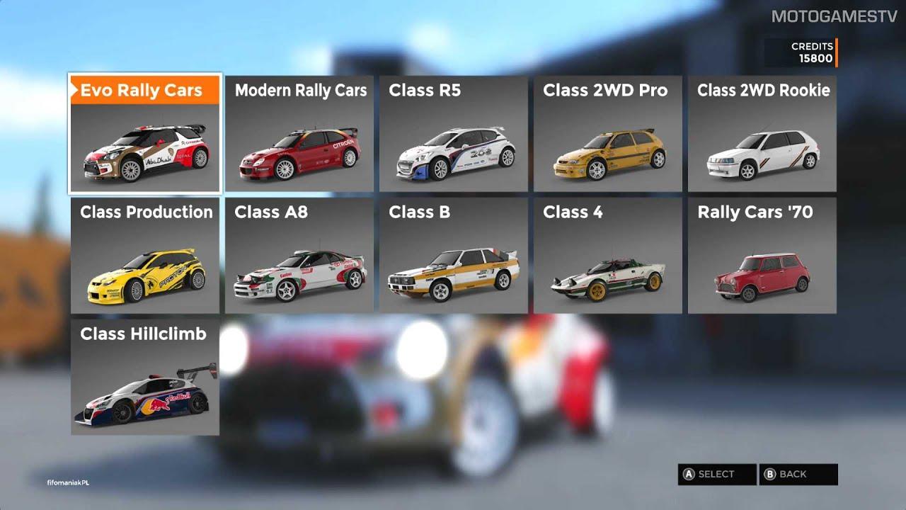 Sebastien Loeb Rally Evo - Full Car List - YouTube