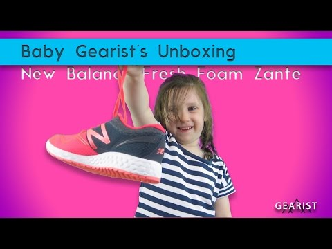 UNBOXING THE NEW BALANCE FRESH FOAM ZANTE WITH BABY GEARIST