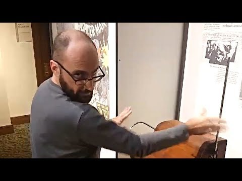 Vsauce Michael plays music on the theremin
