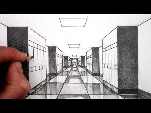 how-to-draw-1-point-perspective-for-beginners:-a-hallway