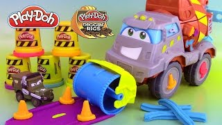 Pâte à modeler Super Camion Ciment Bétonnière Play Doh Max The Cement Mixer Truck Diggin' Rigs