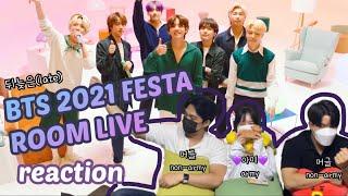 방탄소년단 2021 FESTA BTS ROOM LIVE 아미 + 머글 남사친 리액션 / army + non …