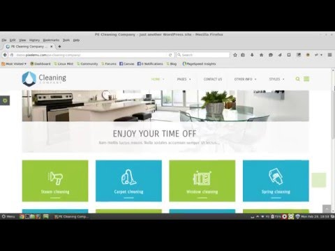 Create a website for your cleaning company & other niche