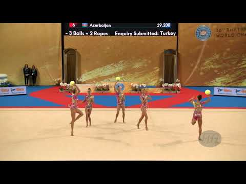 Bulgaria (BUL) - 2018 Rhythmic Worlds, Sofia (BUL) - Qualifications 3 Balls + 2 Ropes