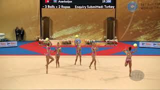 Bulgaria (BUL) - 2018 Rhythmic Worlds, Sofia (BUL) - Qualifications 3 Balls + 2 Ropes