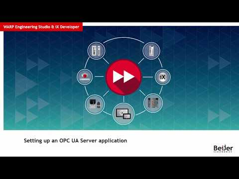 Setting up an OPC UA Server application – Video 6 by Beijer Electronics