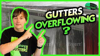 Why are my gutters overflowing?