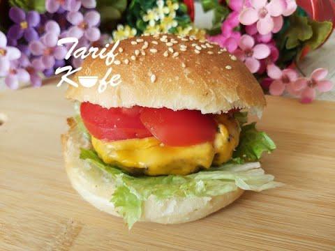 Yumuşacık Ekmeği Muhteşem Tadıyla Tüm Aşamalarıyla HAMBURGER TARİFİ  (Hamburger Ekmeği ve Köftesi)