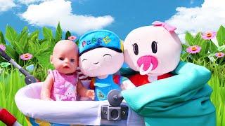 Детские мультики - Как Мама для Беби Бон и Свинки! – Новые видео куклы Baby Born. Смешные игры