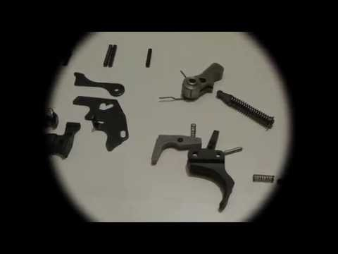 Ruger 10/22 trigger group disassembly.