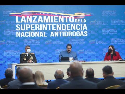 Lucha antidrogas en Venezuela: Presidente Maduro presenta balance en acto especial