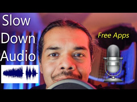 How to slow down Audio Recording with Music Speed Changer and Audiopo free Apps