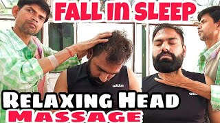 HEAD MASSAGE THERAPY BY NEW INDIANBARBER  | ASMR | RELAXING | Travel Series