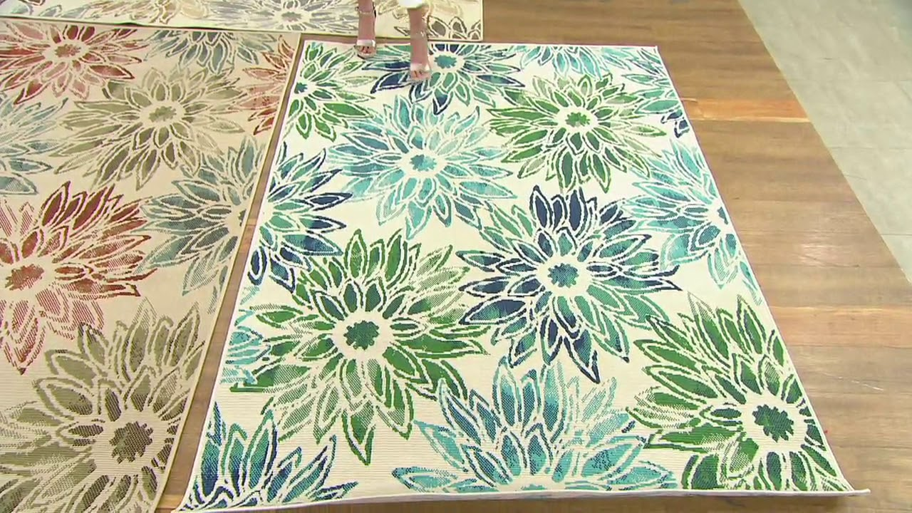 Over Fl Bloom Indoor Outdoor Rug