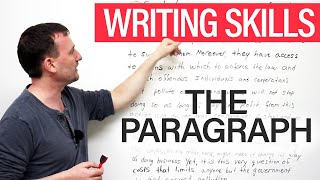 Writing Skills: The Paragraph(http://www.engvid.com The paragraph is the most important unit of a well-written essay. The paragraph has a specific structure and standards that make it ..., 2013-07-22T18:44:14.000Z)