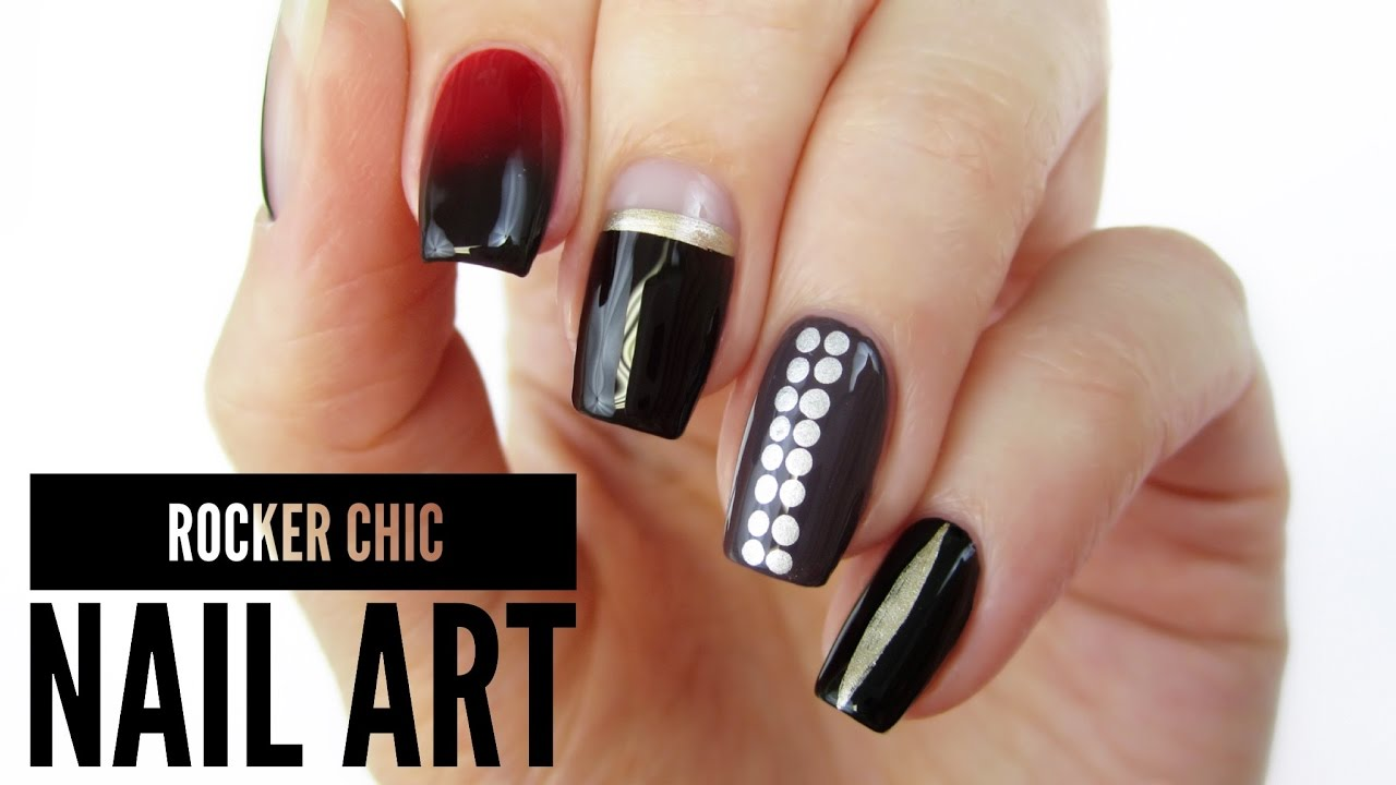 5 Rocker Chic Nail Art Designs / Toronto Fashion Week! - 5 Rocker Chic Nail Art Designs / Toronto Fashion Week! - YouTube
