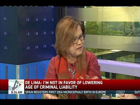 De Lima blames prison congestion in Bilibid drug trade