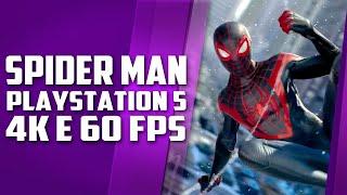 NOVO jogo do Spider Man do PLAYSTATION 5 terá 4K e 60 FPS e 83 anos de Netflix DE GRAÇA