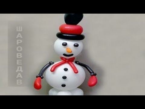 how to make a snowman with balloons