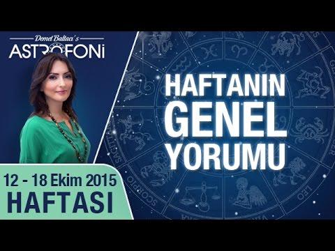Haftalık Astroloji Ve Burç Yorumu Videosu 12 18 Ekim 2015 Youtube