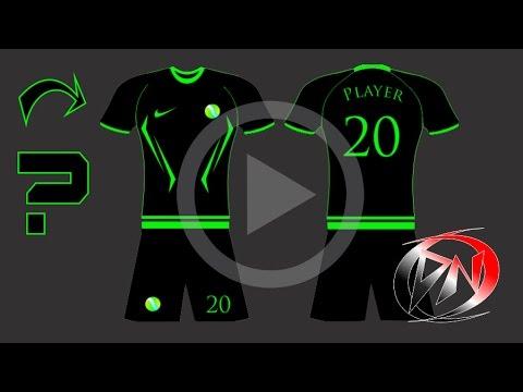Como fazer um modelo uniforme de futebol e futsal - YouTube 0389d60401d1e