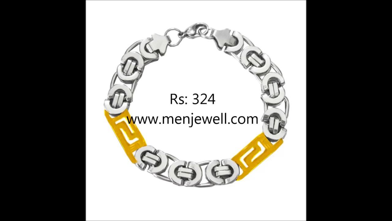 Latest Jewellery Design Mens Jewellery Gold Silver Bracelet for ...
