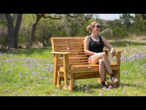 DIY Outdoor Wooden Bench Glider