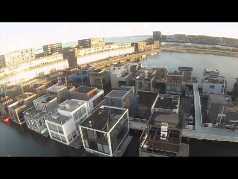 Houseboats, floating homes on steigereiland, amsterdam.