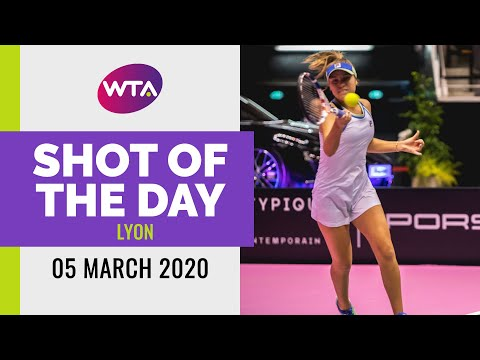 Sofia Kenin | 2020 Lyon Day 4 | Shot of the Day