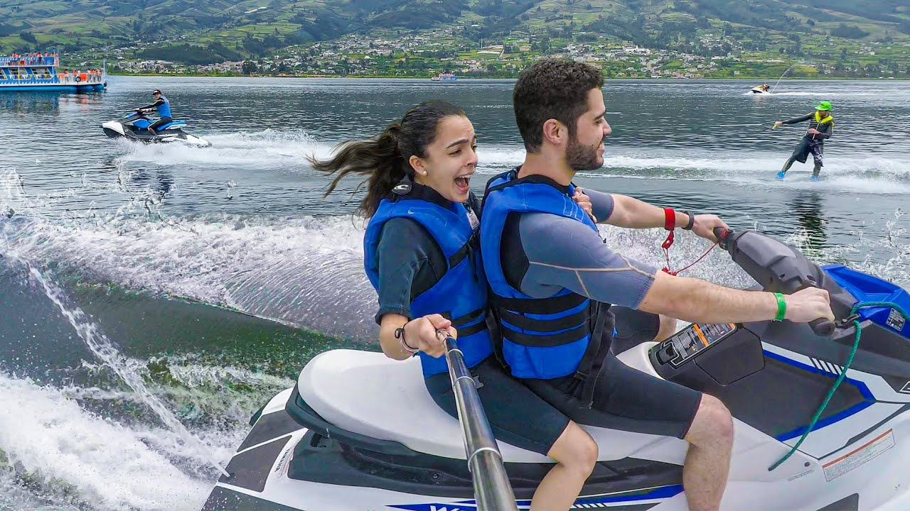 Primera vez en MOTOS DE AGUA *Vale lloró - Deportes Extremos en Lago